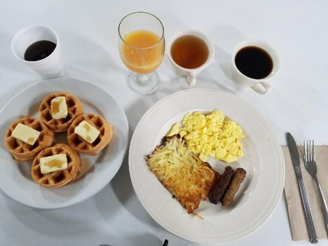 Enjoy a complimentary breakfast