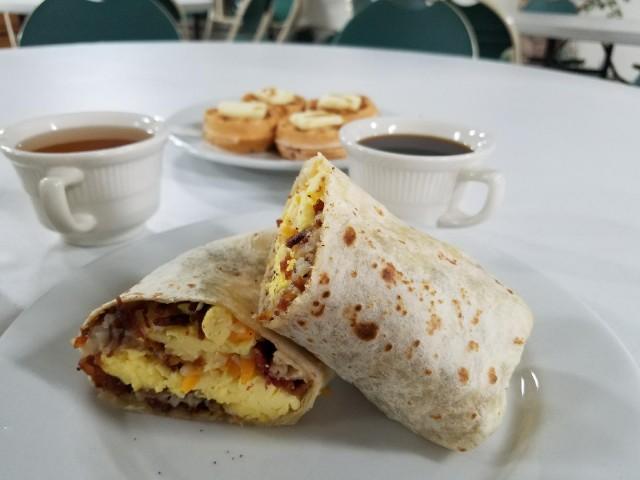 Breakfast Burrito served as part of breakfast