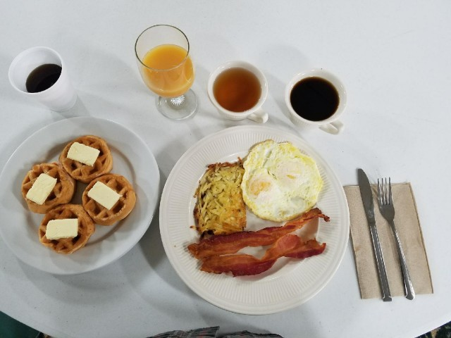 Free Hot Breakfast is served daily