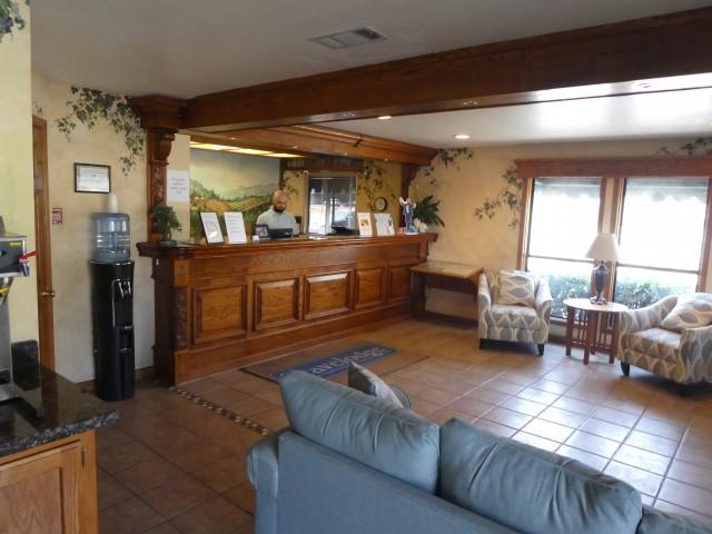 Lobby at Travelodge Lemoore