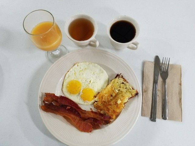 Hot breakfast to start your day