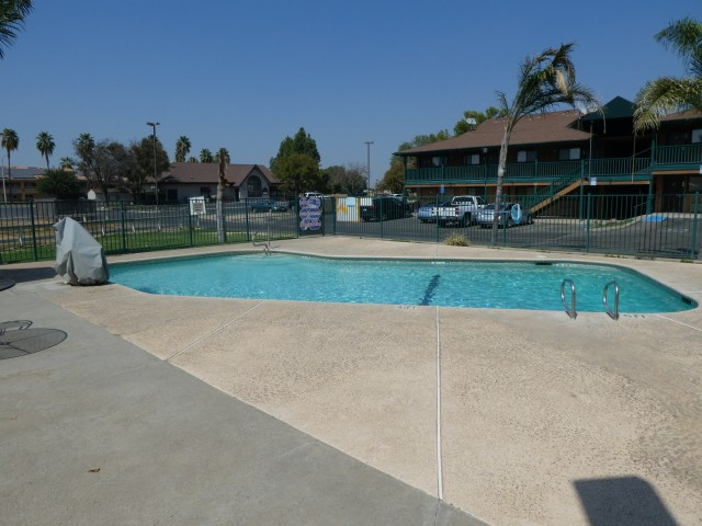 Heated Outdoor Pool at Travelodge Lemoore
