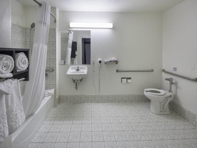 Accessible Bathroom at the Adante Hotel