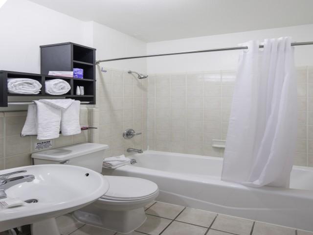 Guest Bathroom at the Adante Hotel