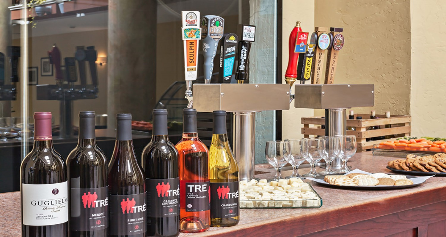 Manager's Reception with craft beer and local wine