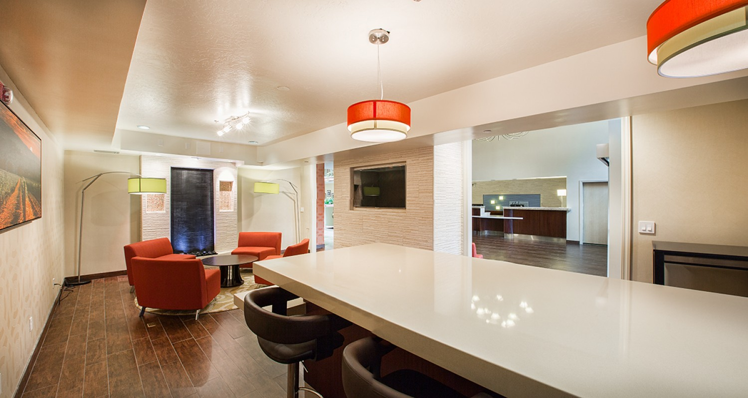 Lounge Area with High Table