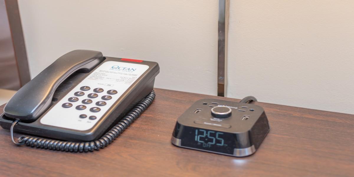Alarm Clock And Telephone