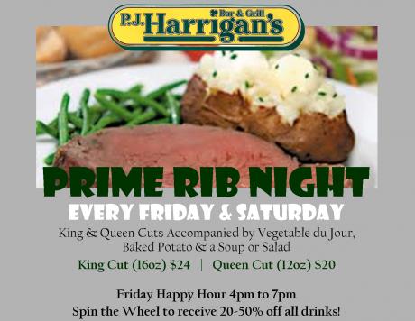 Prime Rib - Friday & Saturday