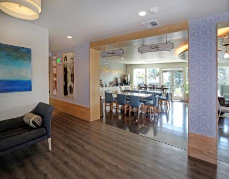 River Inn Hotel in Seaside, Oregon - Lobby Area at the River Inn