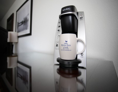 River Inn Hotel in Seaside, Oregon - Keurig Coffee Maker in River Inn Guest Rooms
