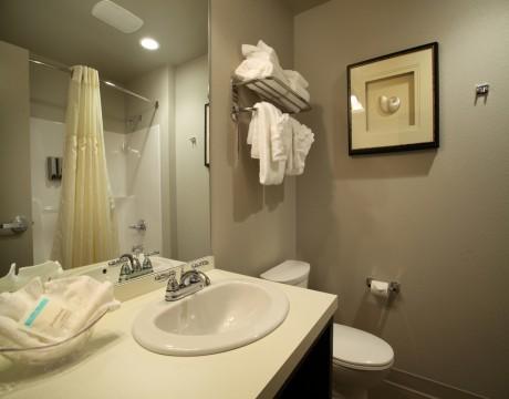 River Inn Hotel in Seaside, Oregon - Bathroom Vanity at the River Inn