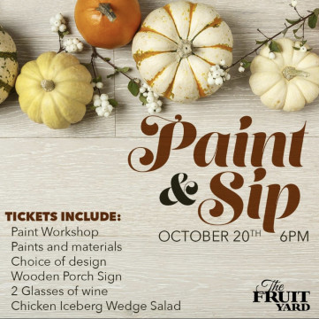 Paint & sip poster