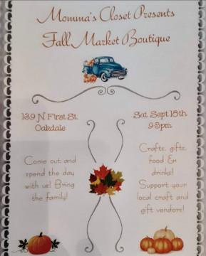 Momma\'s Closet presents Fall Market Boutique