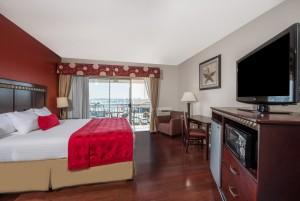 King Bedroom at Ramada San Diego Airport